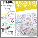 Distance Learning Reading Discussion Cards | Starters | Fi