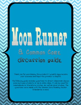 """Reading Discussion Guide for """"Moon Runner"""" by Carolyn Marsden"""