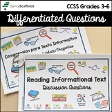 Reading Discussion Questions Differentiated Informational Text