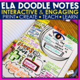 Reading Doodle Notes   Mini Lesson Activities