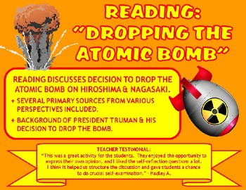 """Reading: """"Dropping the Atomic Bomb"""""""