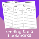 Reading & ELA Bookmarks | Learn Vocab & Grammar While Read