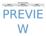 Reading ELA Choice Board