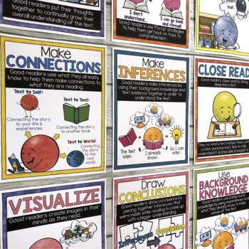 ELA & Reading Comprehension Strategies Posters, Graphic Organizers & Activities