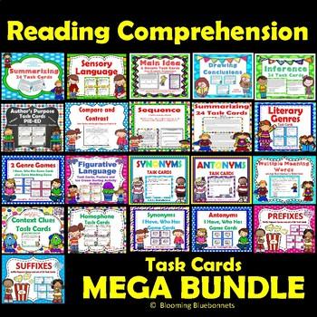 Summarizing - Sensory Language-Inference-Main Idea-Reading ELA MEGA BUNDLE