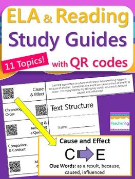 ELA Study Guides BUNDLE {with QR Codes}