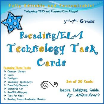 Reading/ELA Technology Task Cards