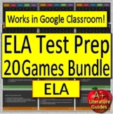 Test Prep Game Shows: 20 Back to School ELA Spiral Review CCSS Activities