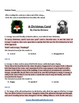 Grade 3 - 8 Moods of 3 Stories - Christmas Carol, Peter Pan, Alice in Wonderland
