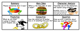 Reading Elements Discussion Bookmark (English AND Spanish)