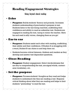 Reading Engagement Strategies