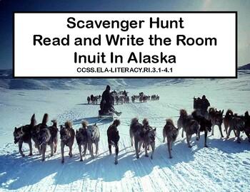 Reading-Eskimos In Alaska- Read and Write The Room- Grades 3-4