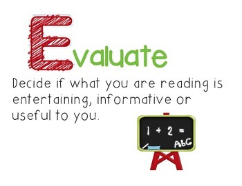 Reading - Evaluate Poster