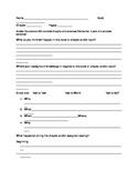Reading Evaluation Sheet