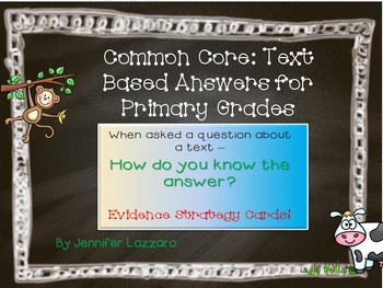 Reading Evidence Based Answers Posters for Primary Grades Aligned to Common Core