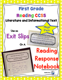 Reading Exit Slips 1st grade Mega Bundle