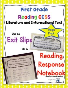Reading Exit Slips 1st grade Mega Bundle