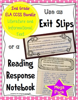 Reading Exit Slips 2nd Grade Mega Bundle