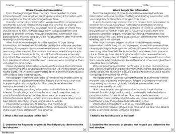 Reading Exit Slips | 5th Grade Reading Exit Tickets