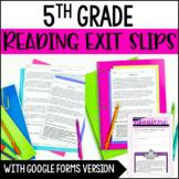 Reading Exit Slips | 5th Grade Digital Exit Slips - Distan