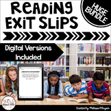 Reading Exit Ticket Slips - BUNDLE - (Grades 3-6) - Distan