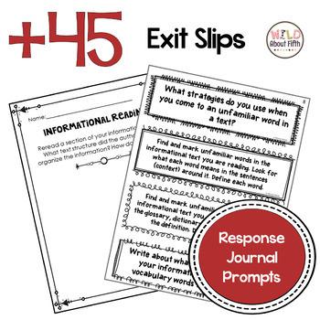 Informational Reading Exit Slips - Grades 3-6