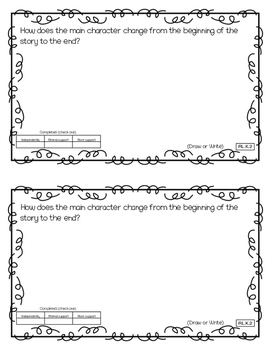 Reading Exit Slips Kindergarten Literature ELA CCSS