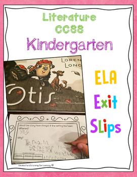 Reading Exit Slips Kindergarten Literature ELA CCSS