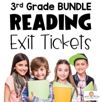 Reading Exit Ticket BUNDLE 3rd