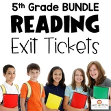 Reading Exit Ticket BUNDLE 5th