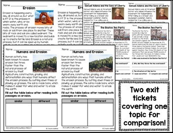 Reading Exit Ticket BUNDLE 5th by Create-Abilities   TpT