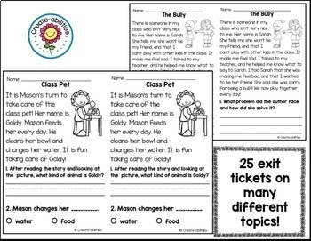 Reading Exit Tickets 2nd Grade