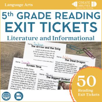 Reading Exit Tickets 5th Grade