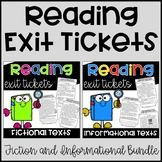 Reading Exit Tickets Bundle {Fiction and Informational}
