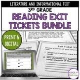 3rd Grade Reading Exit Tickets Bundle: Literature and Info