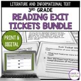 3rd Grade Reading Exit Tickets Bundle