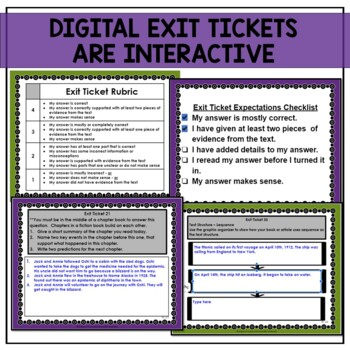 3rd Grade Reading Exit Tickets Bundle: Literature and Informational Text