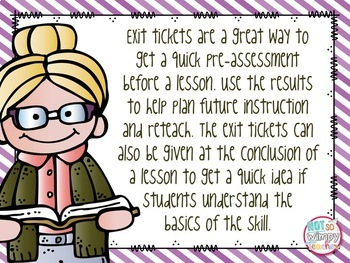 Reading Exit Tickets for Fourth Grade Informational Text