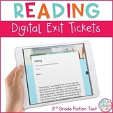Reading Exit Tickets for Google Classroom- Third Grade Fiction