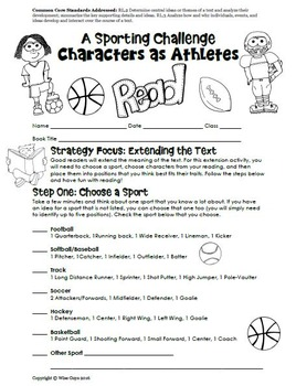 Character Extension Activity (Sports)