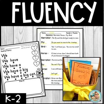 #BusyAsABee Reading FLUENCY Kindergarten - 3rd YEARLONG Reading Blocks BUNDLE