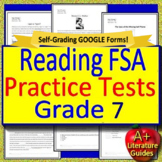 7th Grade FSA Reading Test Prep Practice Set, Print and Paperless, 2019 Style