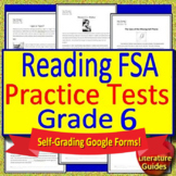 6th Grade FSA Reading Test Prep Practice Set, Print and Paperless, 2019 Style