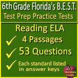 6th Grade FSA Reading Test Prep Practice Set - Print & SELF-GRADING GOOGLE FORMS