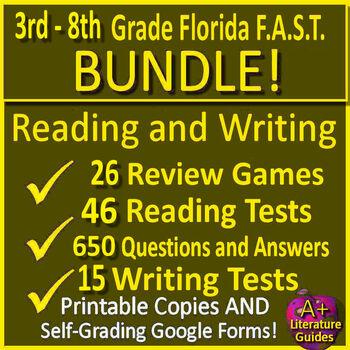 Reading FSA and Writing FSA Test Prep Bigger Bundle Florida Standards Assessment