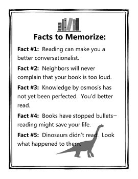 Reading Facts Posters