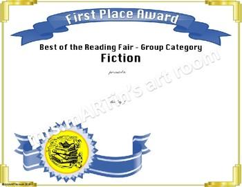 Reading Fair Certificates - Middle School Fiction & NonFiction