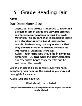 Reading Fair Project