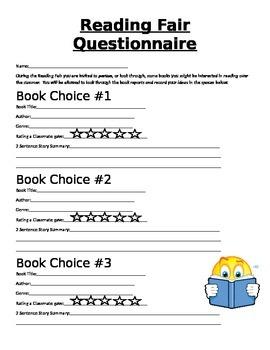 Reading Fair Questionnaire