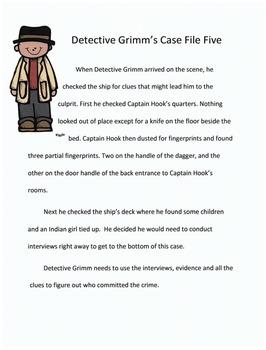 Reading Activity: Fairy Tale Mystery Case File #5 Dagger Dangers